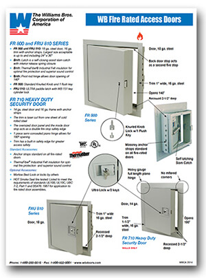 Fire-Rated Access Doors Features and Benefits