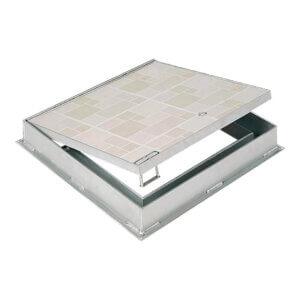 WB R-TPS 8400 Series Recessed Aluminum Floor Hatches for Concrete or Tile